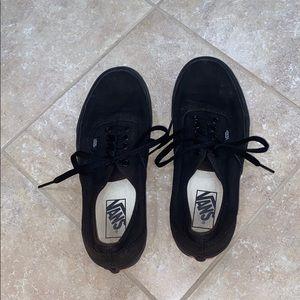 black low top vans